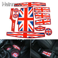 Union Jack Car Coasters Cup Holders Side Door Mat For MINI Cooper Hardtop F55