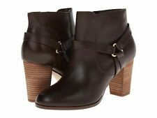 Cole Haan Calixta Ankle Bootie Chestnut Brown Leather Harness Dress Boot 8.5