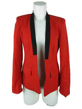 Vince Camuto Women's sz 4 Polyester Blend No Button Open Front Red Blazer