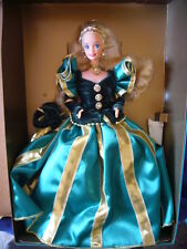 NEUF - Poupée Barbie Evergreen Winter Princess Collection Mattel 1994 vert et or