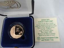 Israel 1987 Holy Land Sites Jericho 1/4oz Gold Proof Coin + Box + COA