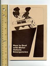 """VINTAGE - """"HOW TO DEAL WITH MOTOR VEHICLE EMERGENCIES"""" PAMPHLET- MINT CONDITION"""