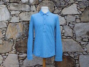 ORLEBAR BROWN.  Long sleeve pique polo shirt.  100% Linen.  BNWOT.  Medium.