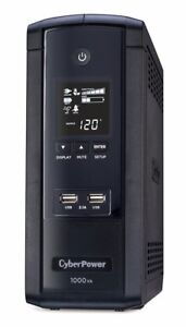 CyberPower 1000VA BRG1000AVRLCD UPS with 600W, AVR, LCD, and 2.1 USB Charging