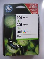 CH561EE HP ORIGINAL 301 2x Black + Color for DJ DESKJET 3057 3059 3054a 01