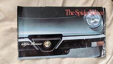 Alfa Romeo Spider Veloce 1981 car sales brochure