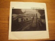 """U2 A Day Without Me UK 7"""" VINYL 45rpm Single PS 1980 WIP 6630 4 Prong Center"""