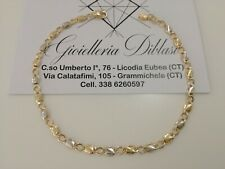 Bracciale in oro giallo e oro bianco (bicolore) 18kt 750% Made in Italy