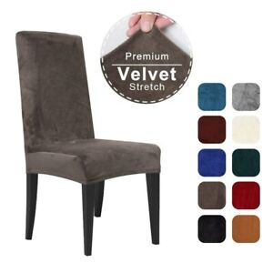 Velvet Dining Room Chair Cover Spandex Elastic Stretch Chair Slipcover Case New