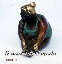 8 verschied.Yoga Figuren gold,antik-finish, Bronze Figur, Sport,Gymnastik,Yoga