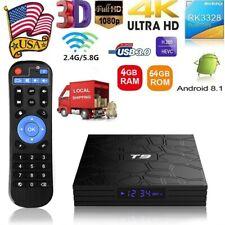 T9 Android8.1 Tv Box Rk3328 4-Core 4/64G 4K Set Top Box WiFi Bt4.1 Hd 3D Media