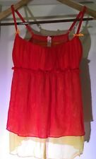 Victoria's Secret SEXY Lingerie Small Nightgown Chemise Red Orange BABYDOLL