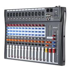 120S-USB 12 Channel Live Studio Audio Mixer Mixing Console Phantom Power X7W8