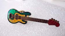ZP182 Classic Rock Green Bass Guitar Lapel Pin Badge