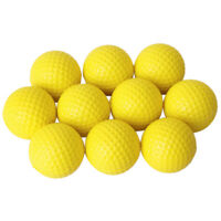 10pcs Balle De Golf En Mousse Boule De Pratique Balle De Golf En PU Jaune