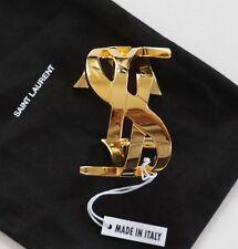 bfe05af722a New Authentic SAINT LAURENT Paris ICONIC YSL MONOGRAM Gold-Tone Bracelet M
