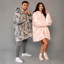 Dreamscene Tie Dye Oversized Hoodie Blanket Wearable Sherpa Fleece Sweatshirt UK