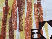 Sale! 60's 70's DISCO Barkcloth Era Vintage Fabric Yardage Eames Mid Century DIY