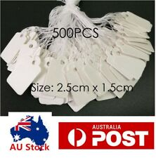 500PCS - 25x15mm White Paper String Swing Price Tag Jewellry Watch Ring Label