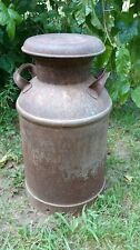 Vintage Large 10 Gallon Milk Can Metal Steel Farm Fresh Country Rustic Primitive