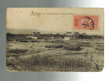 1917 Niger Real Picture postcard Cover AOF to France Kays View of Town