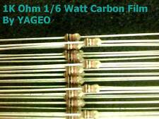 100 Pcs 1.0 K Ohm 1/6 Watt Carbon Film Resistor USA Seller Free Shipping
