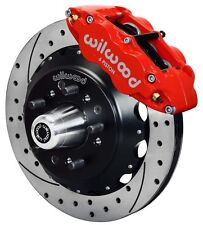 "WILWOOD DISC BRAKE KIT,FRONT,79-87 CHEVY,GMC,BUICK,OLDS,PONTIAC,13"" DRILLED,RED"