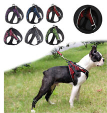 Dog Harness Adjustable Reflective For Small Medium Dogs Puppy Cat Pet Collar New