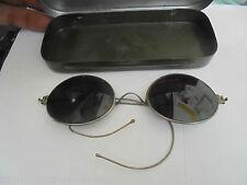 27213 Alte Brille Sonnenbrille Nickelbrille Etui Blech sunglasses prewar tin box
