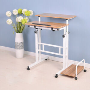 Computer Desk Height Adjustable Stand UP Laptop Table Study Liftable Workstation