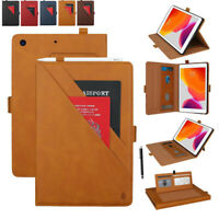 For iPad mini12345/Pro 9.7/10.5, Leather Flip Wallet Stand Card Slots Case Cover