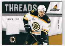 2011-12 PINNACLE THREADS MILAN LUCIC JERSEY 1 COLOR BOSTON BRUINS #20