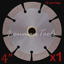 """1PK 4"""" Concrete Brick Block Paver Limestone Asphalt Diamond Saw Blade 12+mm Seg"""