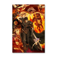Berserk Anime Poster Anime Watercolor Wall Decor Otaku Anime Poster Gift R6