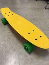 "YELLOW Penny Style Board 22"" Skateboard NEON GREEN WHEELS ~ Quality Assured"