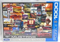 "Ford Mustang Advertising Collection Puzzle 1000 Pcs Eurographics 19.25"" x 26.5"""