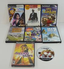 Lot of 8 Playstation 2 PS2 Game Black Label Final Fantasy Cabelas Hitman Ice Age