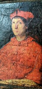 Antique painting on wood (?) 18th or 19th century , Northern France