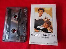Vintage! WHAM! George Michael / MAKE IT BIG / JAPAN CASSETTE TAPE / UK DESPATCH