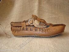 New Pair of Folk Peasant Balkan Bulgarian Handmade Leather  Shoes - Moccasins