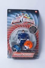 Bandai Power Rangers personaje triple Action Blue azul coche Blaster azul nuevo embalaje original