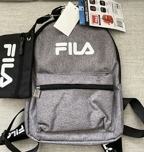 FILA Hailee Gray 2 Piece Mini Backpack with Pouch NWT