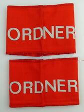 2 DDR Ordner Armbinden für Veranstaltungen, Festivals, Orden3134