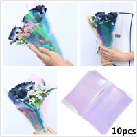 10pcs Flower Packaging Papers Iridescent Film Cellophane Wrapping Gifts 60x50cm