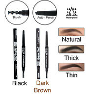 Waterproof Auto Rotation Eyebrow Pencil With Brush Eyeliner Eye Brow Definer NEW