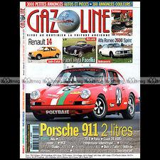 GAZOLINE N°131 PORSCHE 911 2.0 FACEL VEGA FACELLIA ALFA 2600 SPRINT PUMA ALDA