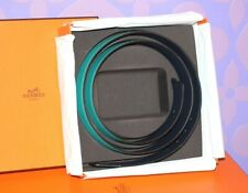 HERMES Belt STRAP ONLY Reversible Turquoise? Navy 105 42mm DISCONTINUED