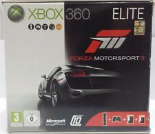 XBOX 360 Elite NERA 120 GB PAL Console Completa + Forza Motorsport 3 Bundle