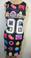 Candy Crush Bodycon Dress Womens Small NEW