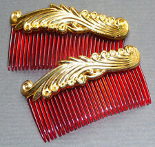 2 Vintage 1950s Hair Combs - 8cm... Very Burlesque...